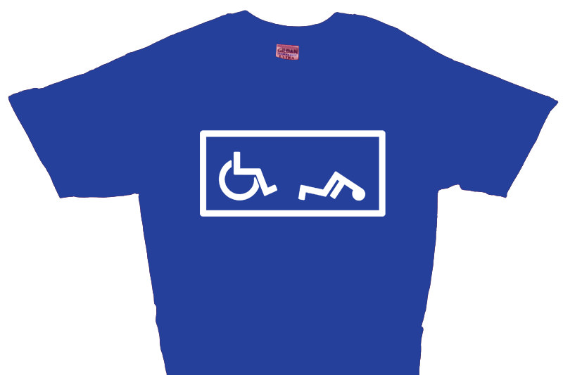 funny offensive t shirts. Handicapped Fall T-Shirt